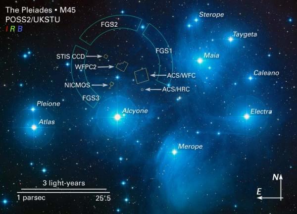Pleidaes star cluster-Composite Nasa Image